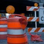 Orange Barrels In Ohio Roads